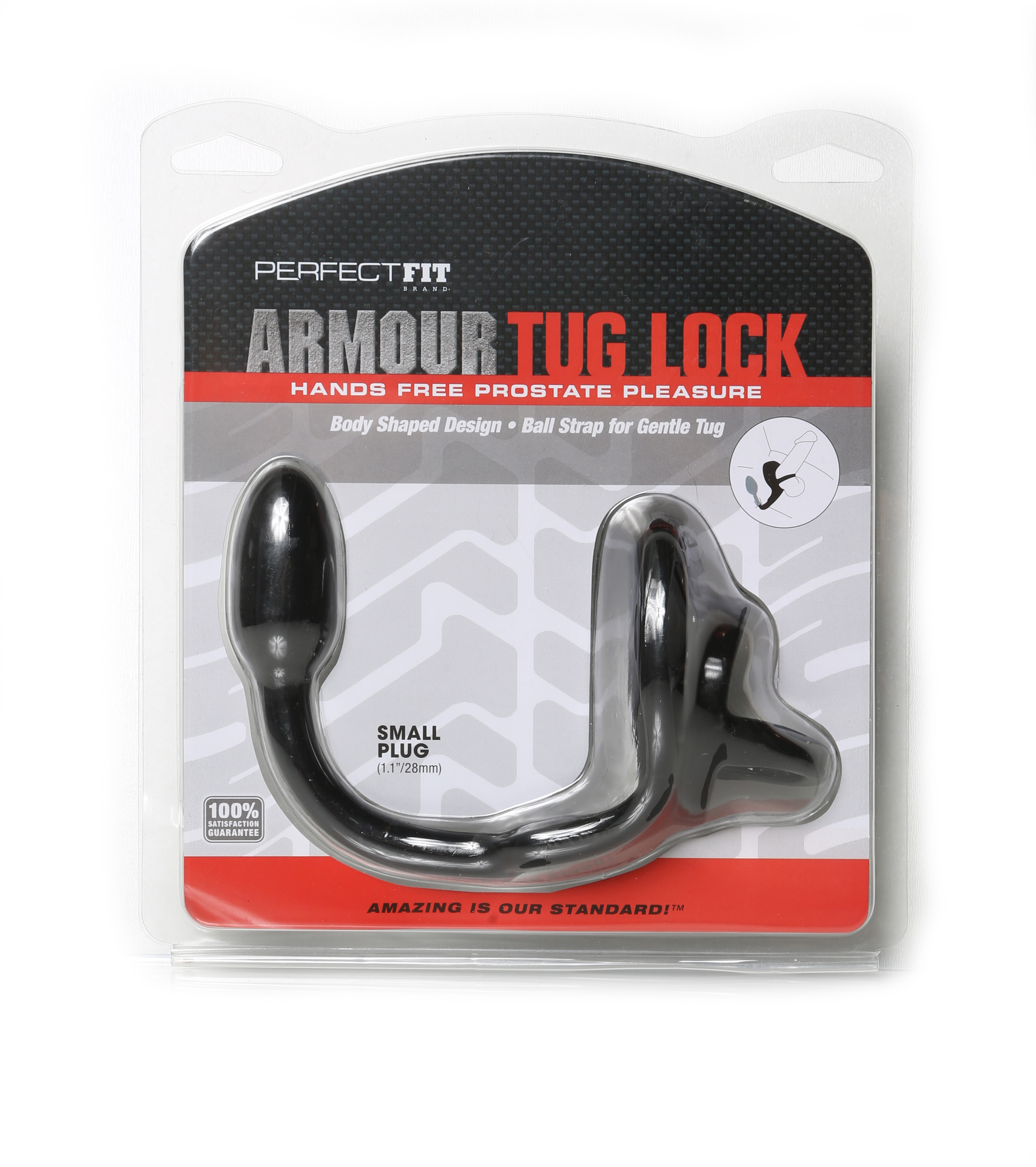 Perfect Fit Armour Tug Lock Small - Black