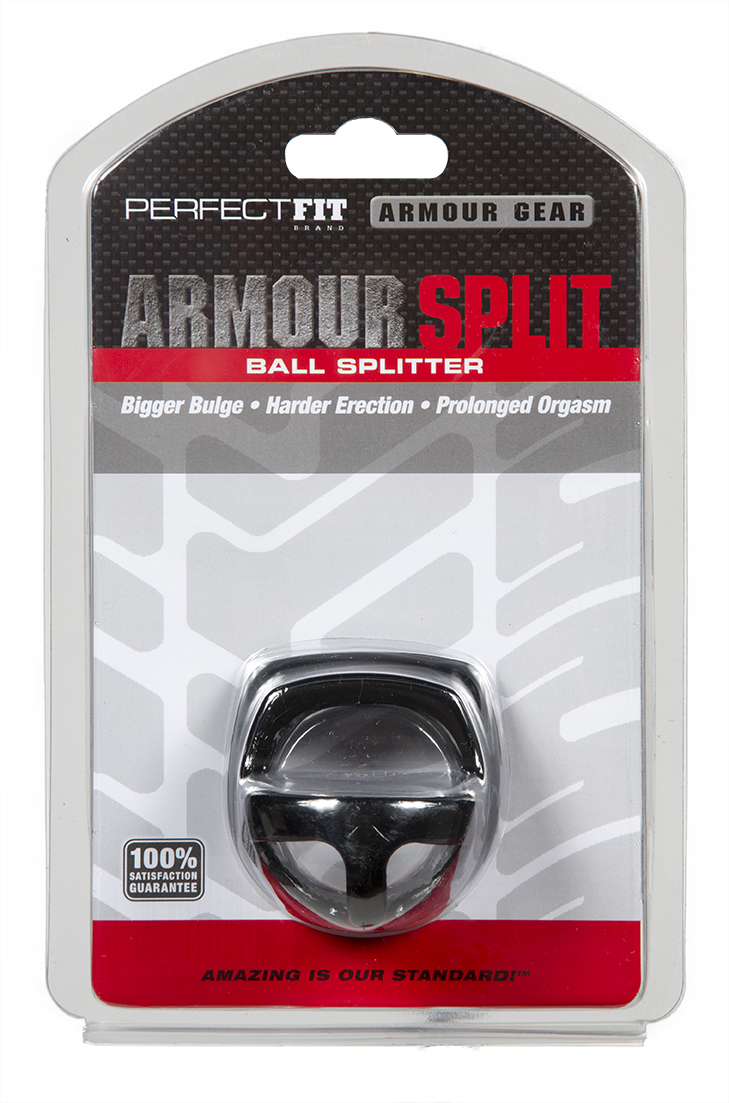 Perfect Fit Armour Ball Splitter Ring - Black