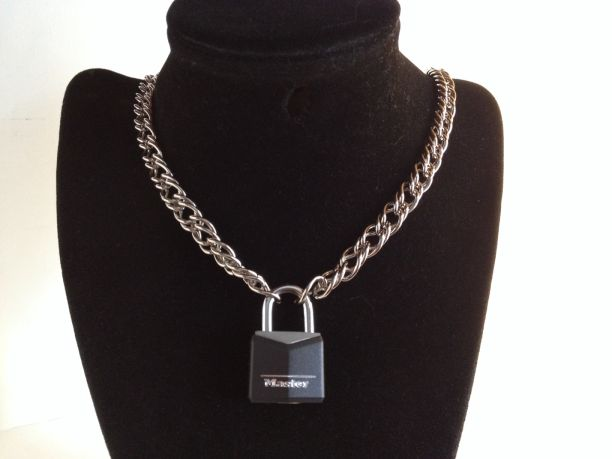 "20"" Chain Collar with Master Lock - Steel"